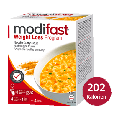 Modifast Nudelsuppe Curry Suppe