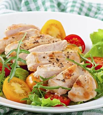 Filets de Poulet sur Salade